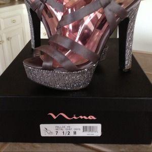 Mia of Mew York glitzy platform sandals
