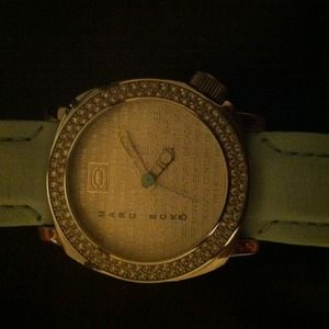 Genuine Marc Ecko blue leather watch with stones