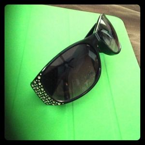 RESERVED Black frame sunglasses with rhinestones