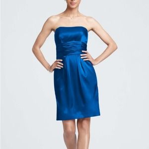 Royal Blue Charmeuse Dress