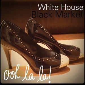 Shoes - Black & Tan pumps