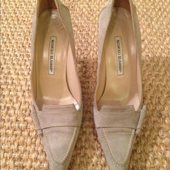 a92113b6c9112 Manolo Blahnik Shoes | Manoli Blahnik Grey Suede Loafers | Poshmark