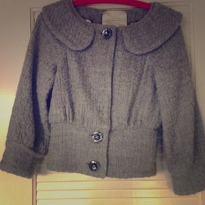 Anthropologie Jackets & Blazers - Anthro Gray wool coat (leifsdottir)