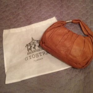 Handbags - * Genuine Florentine Leather Hobo Purse in Caramel
