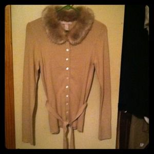 Banana Republic sweater fur collar