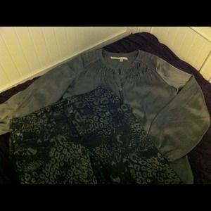 Max Studio shiny gray shirt