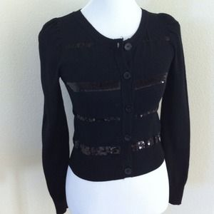Sweaters - Black Sequin Cardigan - worn once!