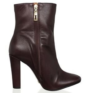 Schutz Boots - Schutz Leather Boot in Dark Wine