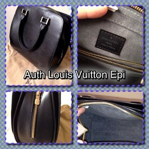 Authentic Louis Vuitton Black Epi