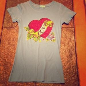 Tops - Baby Blue Tattoo Inspired Tee