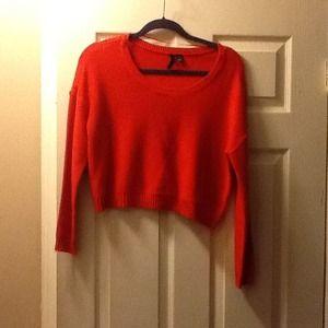 Orange Cropped H&M sweater