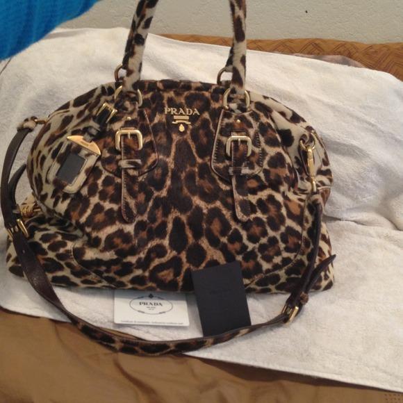 cd7a65dfada6e1 Prada Bags | Large Leopard Print Fur Bag | Poshmark