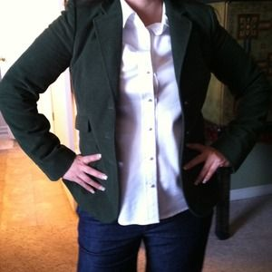 Banana Republic Jackets & Blazers - Green Banana Republic Jacket w/ elbow patch sz 4