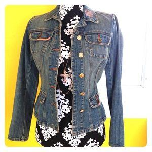 A stylish Bisou Bisou neat denim jacket