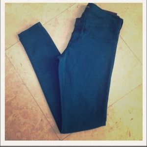 Emerald skinny flying monkey jeans