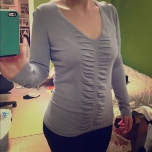 Express Sweaters - Light gray sweater shirt
