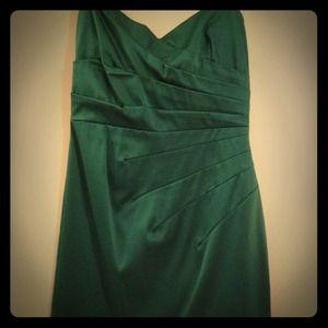 Green boutique cocktail dress
