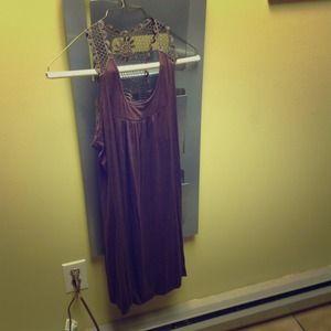 Tops - Chocolate Brown Dress/Tunic