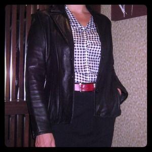 Avanti black genuine leather jacket