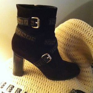 Brown suede FENDI calf Boot