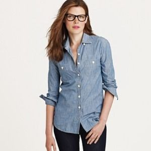 J. Crew Tops - Host Pick! Jcrew Selvedge Chambray