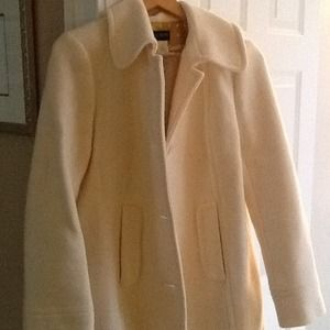 J Crew winter white wool coat