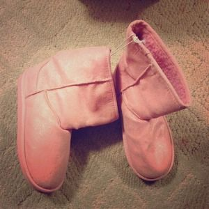 Shoes - Sparkly pastel pink boots new