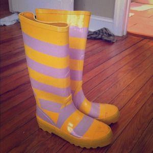 RESERVED! J crew rain boots