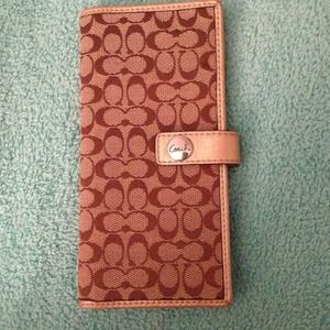 Authentic coach slim snap wallet