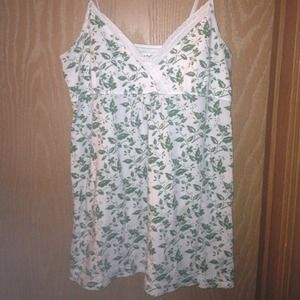 White and green American Eagle tank top.