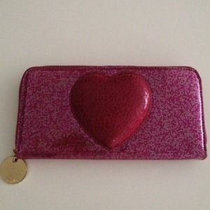 Deux Lux Clutches & Wallets - Pink glitter heart wallet
