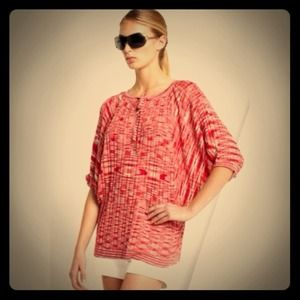 BCBGMaxAzria Red Space Dyed Sweater S