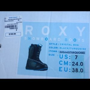Roxy snow board and Roxy snow boots
