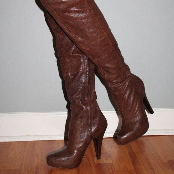 75 report boots report signature fairfax thigh high