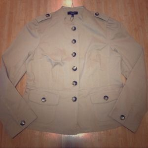 Denim - Talbots fitted Military Style Jacket