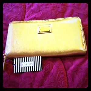 Golden clutch/wallet imported from Brazil
