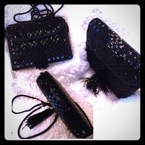 Clutches & Wallets - 🎉💝Reduced💝🎉Super Classy Black Beaded Clutch