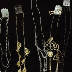Necklaces all come with earrings