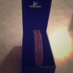 Swarovski crystal/leather bracelet