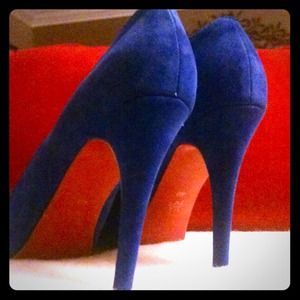 Shoes - Blue Heels