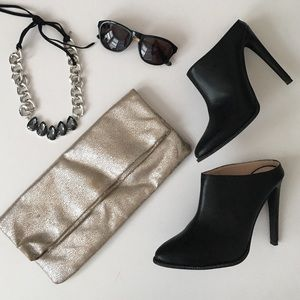 Handbags - Silver fold over clutch