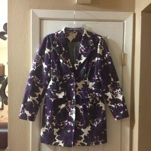 Harold's long coat jacket floral medium trench