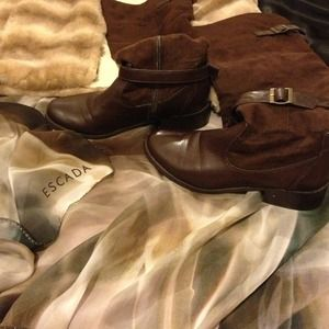 Boots - Brown Knee-High Boots
