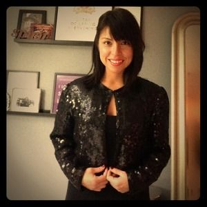 Jackets & Blazers - Sequin Cropped Blazer