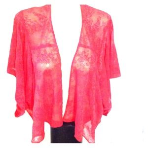 REDUCED!!! Red Urban Outfitters Sheer Blouse
