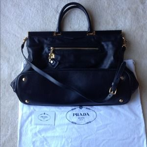 Prada Bags - Prada black leather tote 4