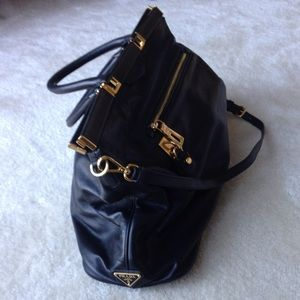 Prada Bags - Prada black leather tote 1