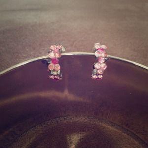 Cyber Monday sale🎉🎈Pink Rhinestone Earrings