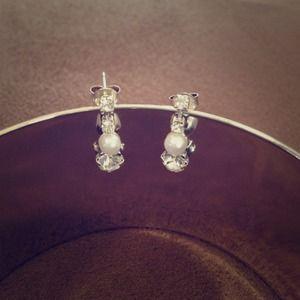 Cyber Monday sale🎉🎈Pearl & Rhinestone Earrings