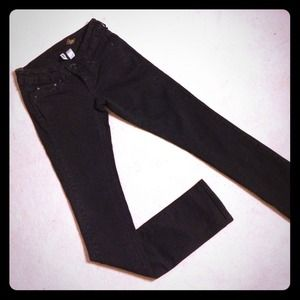 Mango Denim - MANGO BLACK SLIM FIT JEANS